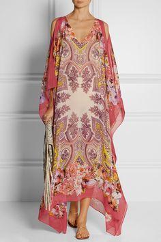 Etro | Printed silk-chiffon maxi dress