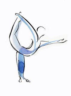yoga art print Dancer Pose by LindsaySatchell on Etsy Dancer Pose Yoga, Yoga Poses, Yoga Images, Art Images, Breathe, Pilates Logo, Yoga Kunst, Yoga Studio Decor, Yoga Logo