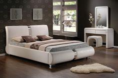 Pat tapițat alb Tokyo Bedroom Bed, Bedroom Decor, Bedrooms, Bed Design, House Design, Tokyo, Loft, Interior Design, Modern