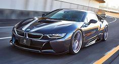 Japan's 3D Design Gives BMW i8 A Racier Makeover #news #3D_Design