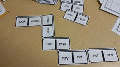Domino Sight Words--add it to your word work rotation--your kids will love it!