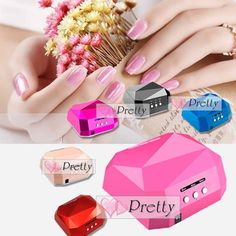 36w Led Ccfl Nail Dryer Diamond Shape Curing Machine Uv Gel Lamp Art Tips Polish