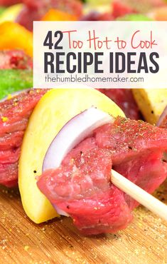Save money and eat clean with these healthy too-hot-to-cook recipes that will keep your kitchen cool all summer long. Try one of these meal ideas tonight! Real Food Recipes, Cooking Recipes, Healthy Recipes, Meal Recipes, Food Tips, Sweet Recipes, Vegetarian Recipes, Food Ideas, Healthy Cooking