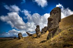 the mysterious stone heads at Easter Island