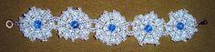Pattern for bracelet Silver Flowers
