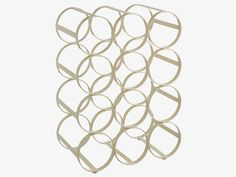 CADEN WHITES Metal Cream 12-bottle wine rack - HabitatUK