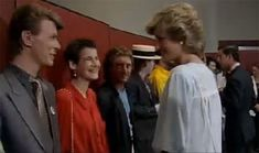 David Bowie chatting to Princess Diana