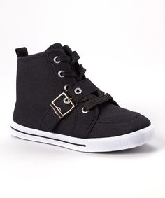 Look at this Ameta Black Star Buckle Hi-Top Sneaker on #zulily today!