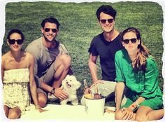 THE OLIVIA PALERMO LOOKBOOK:  Olivia Palermo and Johannes Huebl having picnic at the Bridgehampton Polo Club in The Hamptons With friends.