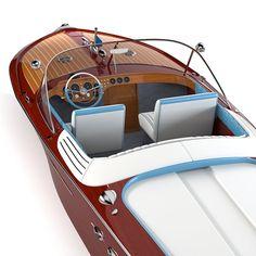 riva aquarama boat 3d model