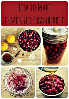 fermented cranberries collage