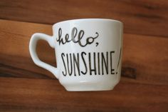 greet the morning with a hello, sunshine cup! | the apothecary bee.  #goodmorning #sunshine #hello