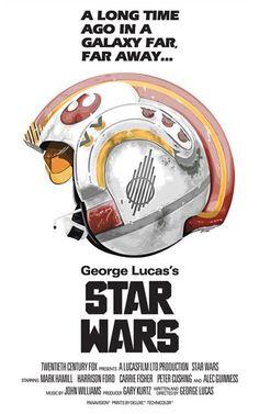 Star Wars X-Wing Pilot Helmet Poster.