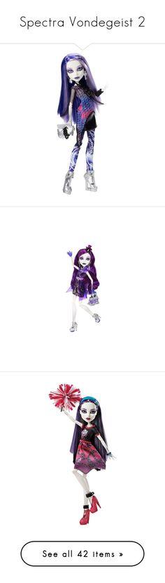 """Spectra Vondegeist 2"" by bluetidegirl ❤ liked on Polyvore featuring monster high, toys, dolls, dresses, gowns, long dresses, edited, vestidos, oscar de la renta and layered dress"
