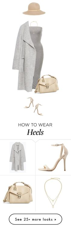 """Favorite combo at the moment !"" by azzra on Polyvore featuring Zara, Charlotte Russe, CXL by Christian Lacroix, rag & bone, Kate Spade, classic, classy and nudeandgrey"