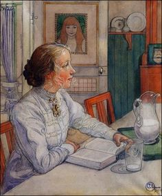 Carl Larsson.  I adore this painting.  So perfect.