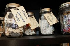 Don't know what to do with all those tickets, brouchures, and boarding passes from your last trip? Forget the long hours of scrapbooking and throw your knick knacks into a jar, then tag it with the date. Get the tutorial on Lauren-Likes.    - CountryLiving.com