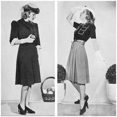 1940s-Fashion---Early-Summer-Suits-1940-c