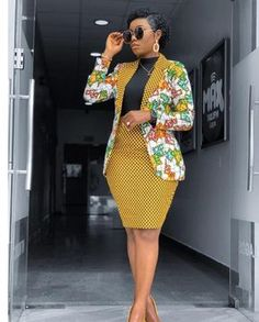 African Print Blazer Jacket with Mini Skirt - Ankara Print - African Dress - Two Piece Outfit - Handmade - Africa Clothing - African Fashion - - African Print Jumpsuit, African Print Skirt, African Print Dresses, African Dress, African Prints, African Fabric, African Fashion Ankara, African Print Fashion, Africa Fashion