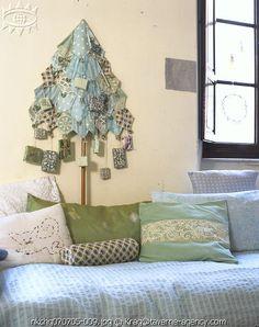 fabric xmas tree for Advent