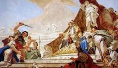 Giovanni Battista Tiepolo - The Judgment of Solomon (Palazzo Patriarcale, Udine) Rococo, Solomon Bible, King Solomon, Roi Charles, The World Is Flat, Greek Pantheon, Web Gallery Of Art, Bible Pictures, Bible Lessons For Kids