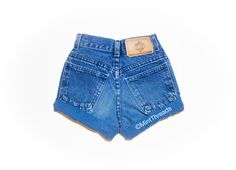 "ALL SIZES Vintage ""HELIOS"" High Waisted Denim Shorts - Mint Threads - 3"