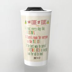 Buddy the Elf really learned the Code of the Elves: 1) Treat every day like Christmas, 2) Theres room for everyone on the nice list, 3) The best way to spread Christmas cheer is singing loud for all to hear. Show off your Christmas cheer to family, friends and coworkers with this cute 12 oz. travel mug and memorable quote from the classic A Christmas Story. The perfect combination of two things that let us know it is the holiday season: classic quotes from A Christmas Story and a good cup…
