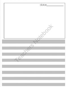 Draft Writing Paper with alternating grey and white lines product from 2ndisoutofthisworld on TeachersNotebook.com