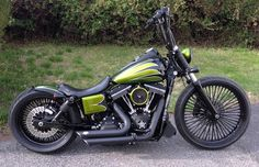 Mikes Harley Davidson Street Bob with Voodoo Fender   Rocket Bobs