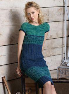 Endlich ein Kleid, das so ziemlich jeder Frau steht, auch mit femininen Kurven. Dafür sorgt die hübsche Sanduhr-Silhouette, der coole Muster- und Farbenmix wirkt für sich.