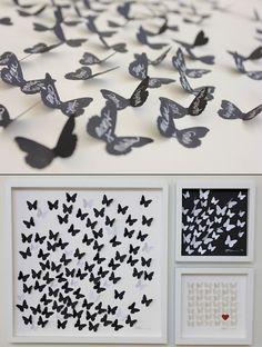 butterfly wedding guestbook ideas