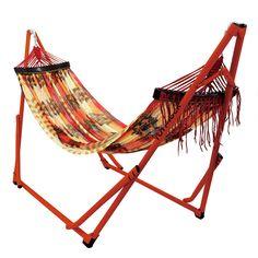 citiesocial – 【預購】熱銷400萬組-摺疊攜帶式便利悠閒編織吊床 - 橘紅款