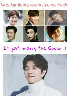 Goblin gong yoo :) he's totally my type Korean drama love