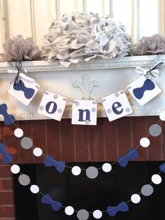 I am One Banner - Bow Tie 1st birthday Cake Smash photo prop - High Chair garland decor - first birthday decorations -  your color choices
