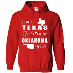 #michigan #states #texas... Awesome T-shirts (Nice T-Shirts) TEXAS GIRL IN OKLAHOMA . EngineerTshirts  Design Description: Texas woman Oklahoma world .... Check more at http://engineertshirts.xyz/states/nice-t-shirts-texas-girl-in-oklahoma-engineertshirts.html