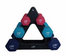 j/fit Dumbbell Set with Stand, 32-Pound, Black JFIT http://www.amazon.com/dp/B00B4RVYPS/ref=cm_sw_r_pi_dp_Ya1Mtb1BNBJK3GW4