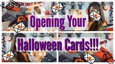 HALLOWEEN HAPPY//OPENING YOUR HALLOWEEN CARDS!!!