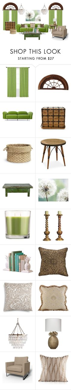 """""""Living Large"""" by dee-mobley ❤ liked on Polyvore featuring interior, interiors, interior design, home, home decor, interior decorating, Waverly, Moooi, Palecek and Matchstick"""
