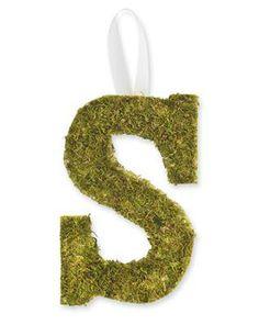 Peel N' Stick Moss Monogram
