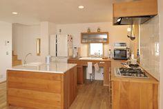 L Shaped Kitchen, Wooden Crafts, Kitchen Island, Building, Home Decor, Island Kitchen, L Shape Kitchen, Wood Crafts, Decoration Home