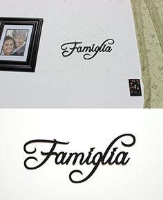 Famiglia Italian Word for Family Metal Wall Art Home Decor