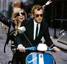 Jude law in couple on a Vespa by ciaoparis.fr, via Flickr