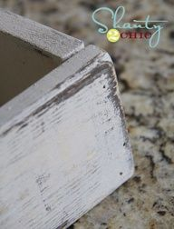 Easy paint distressing with Vaseline