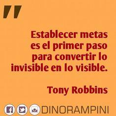 Establecer metas es el primer paso para convertir lo invisible en lo visible. - Tony Robbins #frases #quotes #CiudadBolivar #instacool #instagood #igers #picoftheday #instavenezuela #igersvenezuela