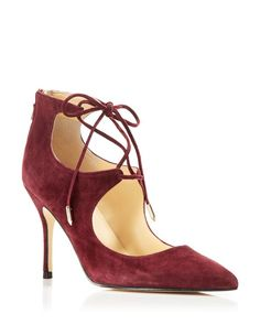 Ivanka Trump Deenal Lace Up Pointed Pumps - 100% Bloomingdale's Exclusive