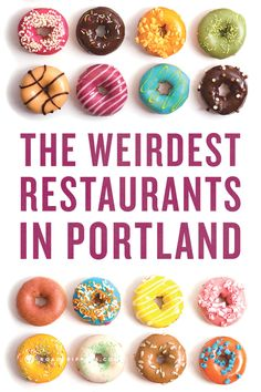 Go out of your comfort zone with some odd eats in Portland, Oregon. Locals haven't even been to all of these places yet. Oregon Vacation, Oregon Road Trip, Oregon Travel, Travel Usa, Travel Portland, Portland Food, Portland Oregon Restaurants, Moving To Portland Oregon, Portland Bars