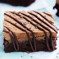 Chocolate Mousse Brownies - Creme De La Crumb
