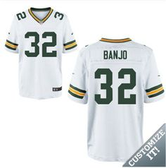 66c1d7dd1f2 ... Navy Blue Elite Custom Alternate Jersey 2 Mens Green Bay Packers 32  Chris Banjo White Elite Jersey .