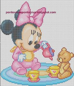 Point Cross Drayzinha: Graphics disney baby