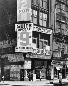 Berenice Abbott / William Goldberg, 771 Broadway at East 9th Street - ca. 1935-39 / © Berenice Abbott/Commerce Graphics Ltd, Inc.